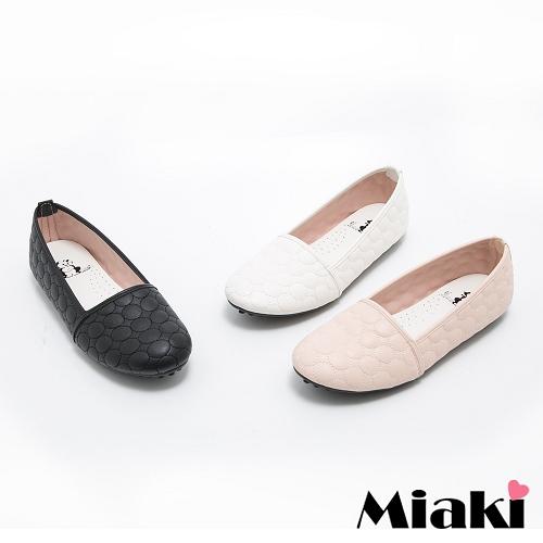 ~Miaki~MIT 娃娃鞋韓劇 優雅平底包鞋 ^(白色 黑色 粉色^)