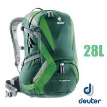【德國 Deuter】Futura 28 輕量 網架式透氣背包.單車背包.登山背包.露營背包.雙肩背包.旅行包_ 34214 綠/深綠