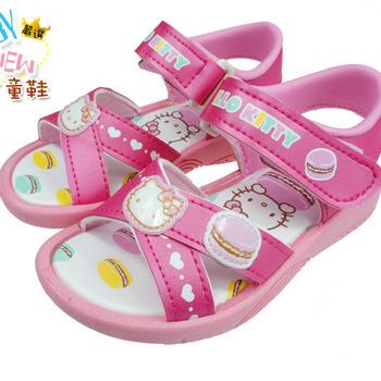 Hello Kitty透氣舒適馬卡龍造型涼鞋