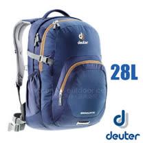 【德國 Deuter】GRADUATE 休閒背包28L.雙肩後背包.旅行包.登山健行旅遊包.自助旅行 .露營_80232 深藍/咖啡