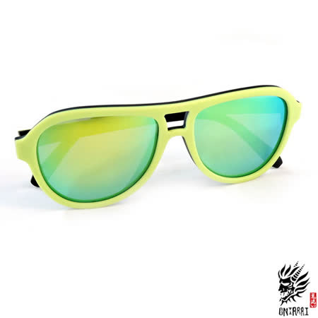 【ONIARAI鬼洗】反光太陽眼鏡-黃色003-C3