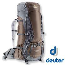 【德國 Deuter】Aircontact 75 + 10 拔熱式透氣背包.健行登山背包.自助旅行背包.大背包_咖啡/黑 33472