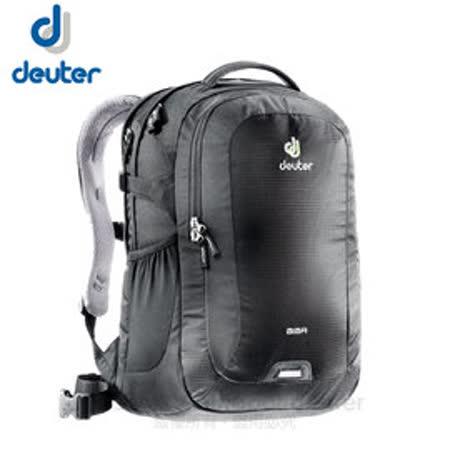 【德國 Deuter】Giga 28L 旅遊後背包‧後背筆電腦包 (肩帶可調整_腰帶可拆)登山健行旅遊包.上班洽公自助旅行.學生書包_80414 黑
