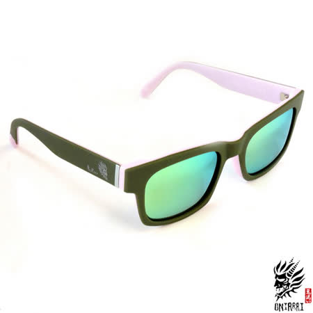 【ONIARAI鬼洗】反光太陽眼鏡-淺粉005-C2