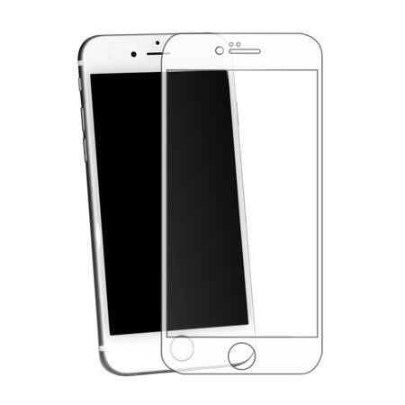 BEARBOSS x PGL+ 聯名款 iPhone 6/6s 2.5D 滿版強化玻璃保護貼 (白色)