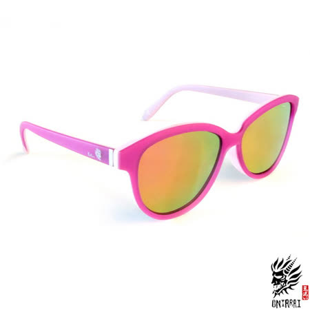 【ONIARAI鬼洗】反光太陽眼鏡-桃紅色007-C1