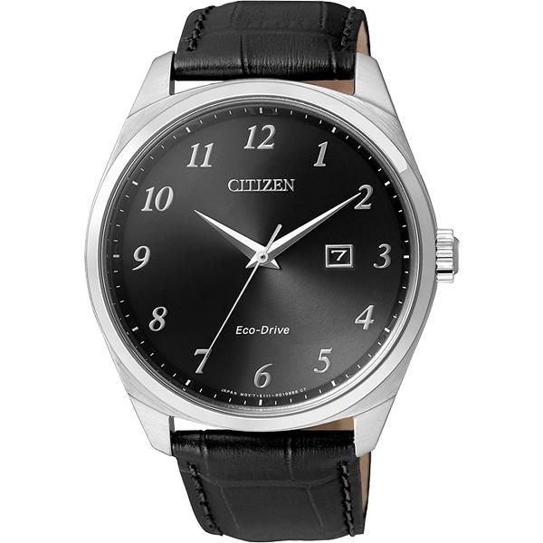 CITIZEN Eco~Drive 光動能 簡約腕錶~黑42mm BM7320~01E