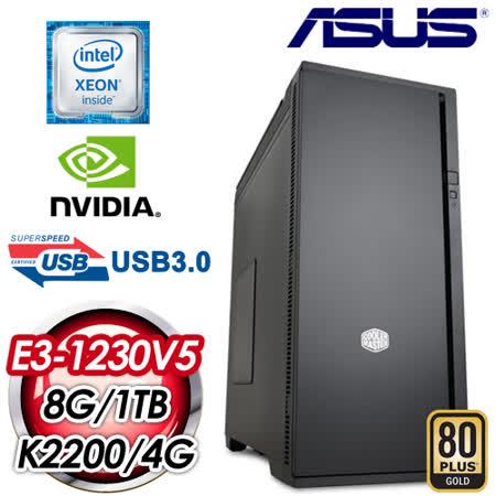 華碩 C232 平台【元曼春琴】Intel Xeon E3-1230V5 8G 1TB K2200 4G 專業級獨顯電腦