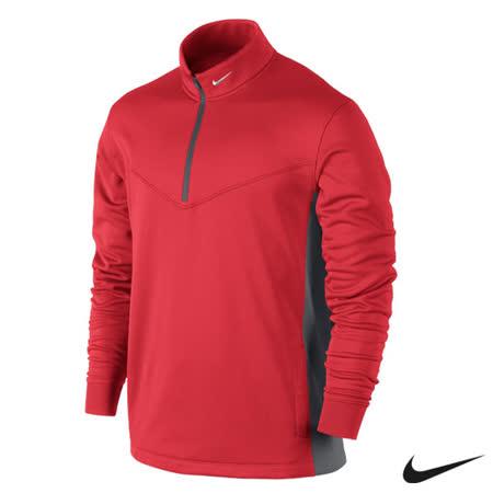 Nike 運動休閒半拉鍊保暖長袖上衣(紅)622681-660
