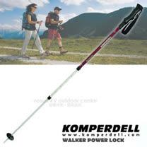 【KOMPERDELL 奧地利】WILD RAMBLER 7075 鋁合金橡膠握把健行登山杖-無避震 (僅260g.140cm)/單支銷售 1742317-10
