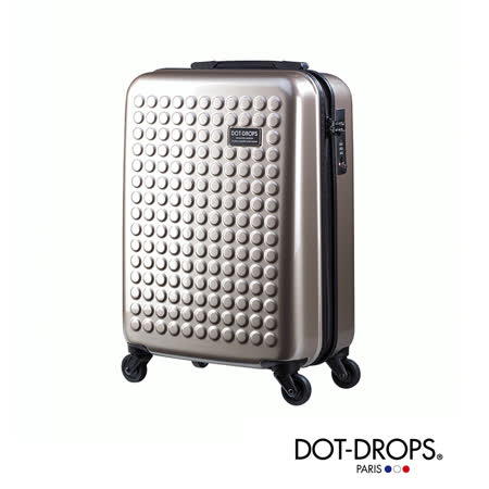 DOT-DROPS 24 吋 X-TRA 輕量客製點點硬殼行李箱 - 香檳金