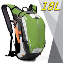 【LOCAL LION】18L 超輕大容量防潑水背包(650g)/自行車背包_戶外路跑跑步背包_可當攻頂包.運動雙肩背包.登山健行 464 綠