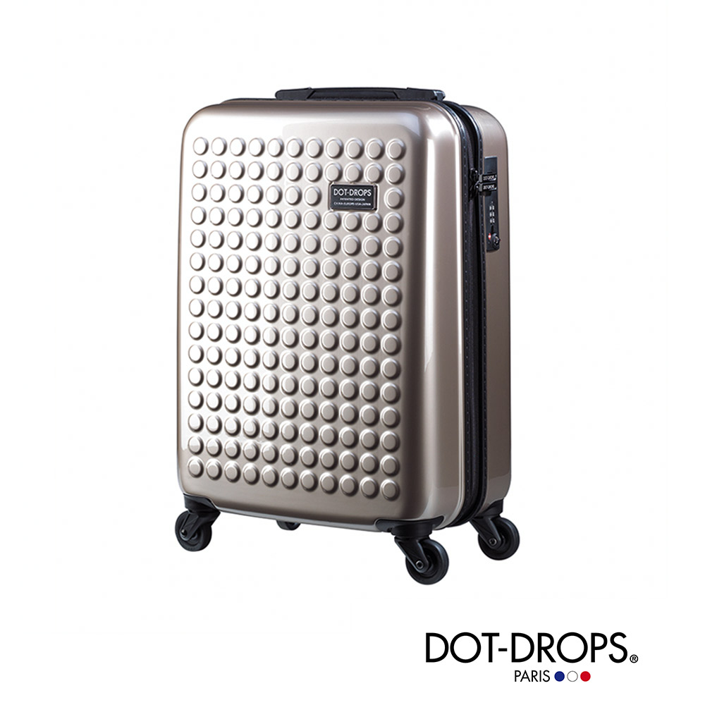 DOT-DROPS 20 吋 X-TRA華納 威 秀 高雄 大 遠 百 輕量客製點點硬殼行李箱 - 香檳金