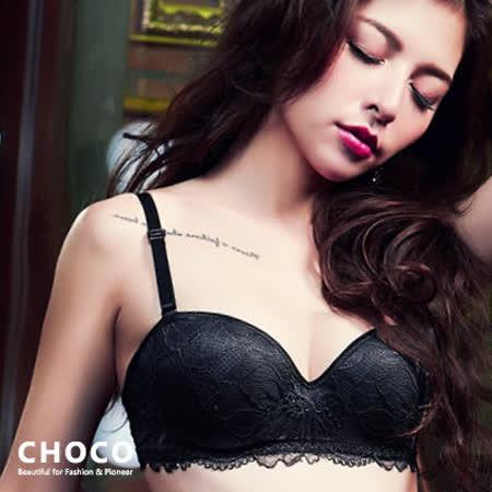CHOCO SHOP 夢幻花境-柔紗蕾絲爆乳款(黑色) 70~80