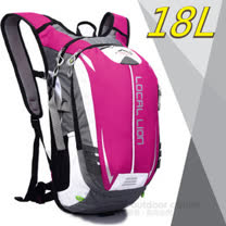 【LOCAL LION】18L 超輕大容量防潑水背包(650g)/自行車背包_戶外路跑跑步背包_可當攻頂包.運動雙肩背包.登山健行 464 粉
