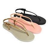 【Pretty】極簡人字夾腳涼鞋