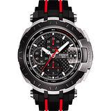 TISSOT T-Race MotoGP 2016 限量賽車計時機械腕錶-黑/45mm T0924272720100