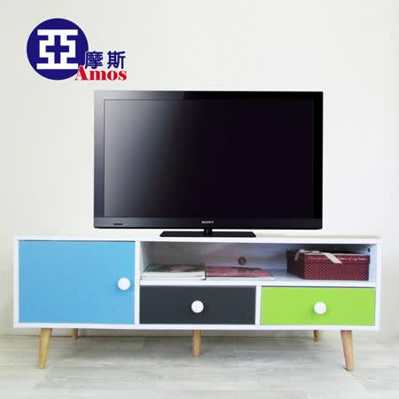 【Amos】幾何元素三色電視櫃/大茶几