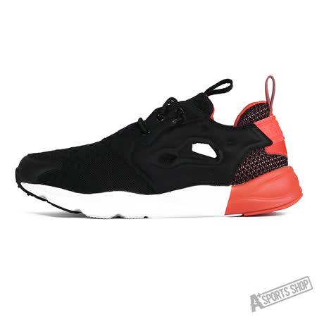 REEBOK (女) 銳步 FURYLITE POP 休閒鞋 黑紅白-V72678