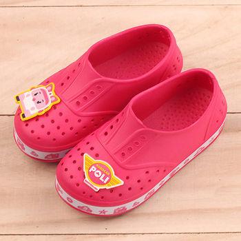 POLI 台灣製正版兒童洞洞鞋-安寶
