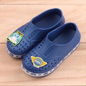 POLI 台灣製正版兒童洞洞鞋-波力