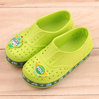 POLI 台灣製正版兒童洞洞鞋-赫利