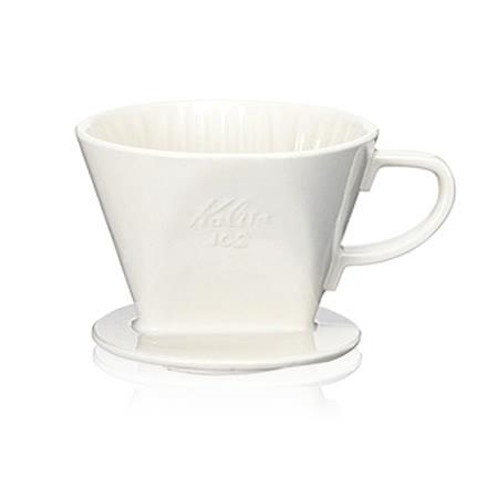 【TCoffee】Kalita 102白色陶製三孔濾杯