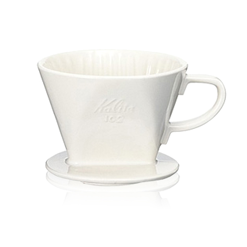 ~TCoffee~Kalita 102白色陶製三孔濾杯