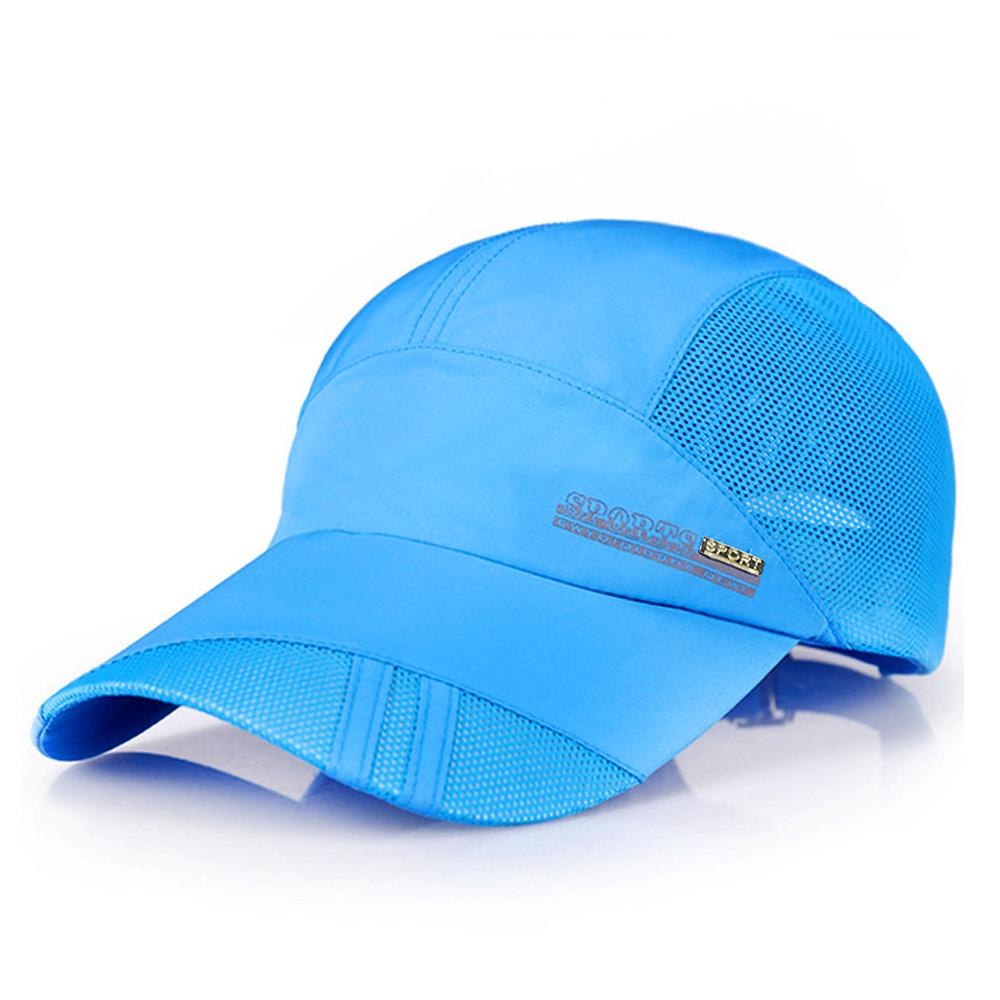 【活力揚邑】防曬輕薄涼感吸濕排汗透氣速乾棒球帽鴨舌帽-時尚藍