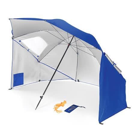 戶外多功能 抗紫外線 沙灘遮陽帳篷傘 藍色