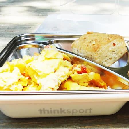 【美國thinkbaby】環保不鏽鋼兒童餐盤組-牛乳白