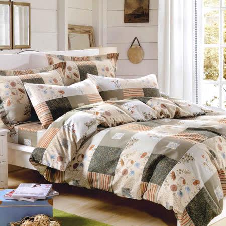 美夢元素 鄉村風格 天鵝絨涼被床包組 雙人加大四件式
