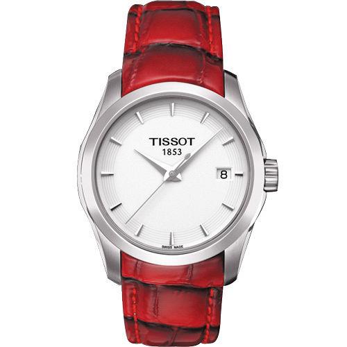 TISSOT Couturier Lady 建構師系列 極簡魅力 腕錶^(熱情紅^) T0