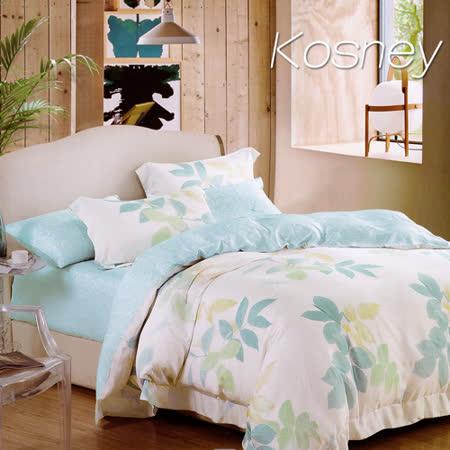 《KOSNEY 靜待花開》加大100%天絲全舖棉四件式兩用被冬包組