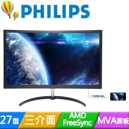 PHILIPS飛利浦 279X6QJSW 27型MVA曲面寬螢幕
