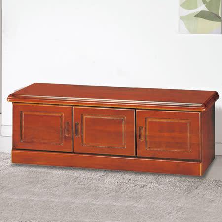 HAPPYHOME 柚木色4尺坐鞋櫃5U6-232-432