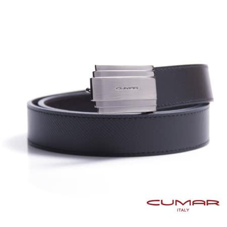 CUMAR 義大利牛皮造型紳士皮帶 0596-C16-01