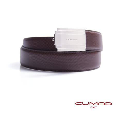 CUMAR 義大利牛皮造型紳士皮帶 0596-C17-02