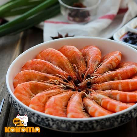 【極鮮配】熟白蝦(1200g±10%/袋)(任選)