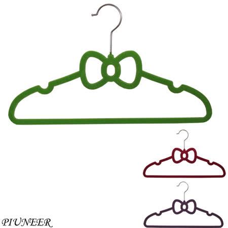 PIUNEER 蝴蝶結兒童植絨衣架(15入組)