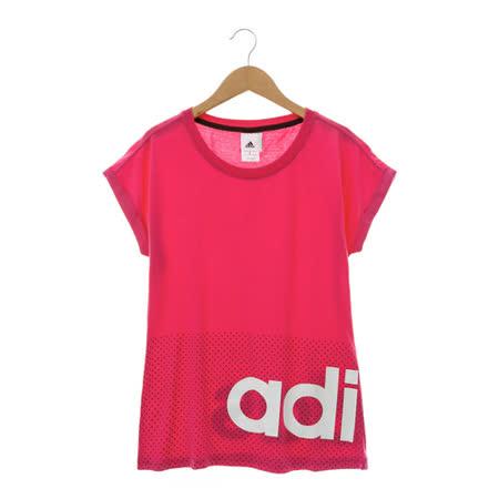 Adidas 愛迪達(女)短袖上衣 桃AP5949