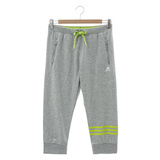 adidas (女) 七分褲 灰/綠AP5877