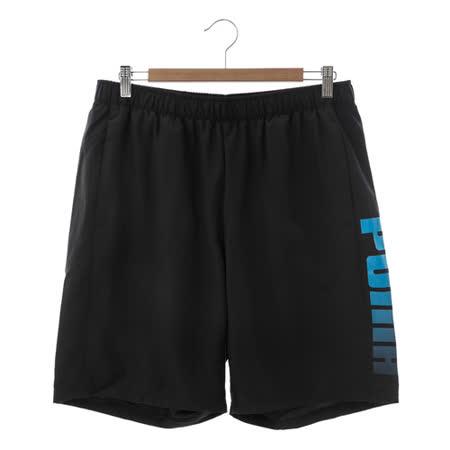 PUMA(男)運動短褲 黑水藍 83884301