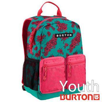 BURTON Youth Gromlet 兒童電腦 後背包 - 綠紅花