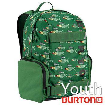 BURTON Youth Emphasis 兒童電腦 後背包 - 綠色小魚