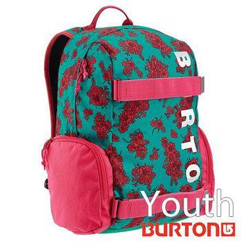 BURTON Youth Emphasis 兒童電腦 後背包 - 綠色桃花