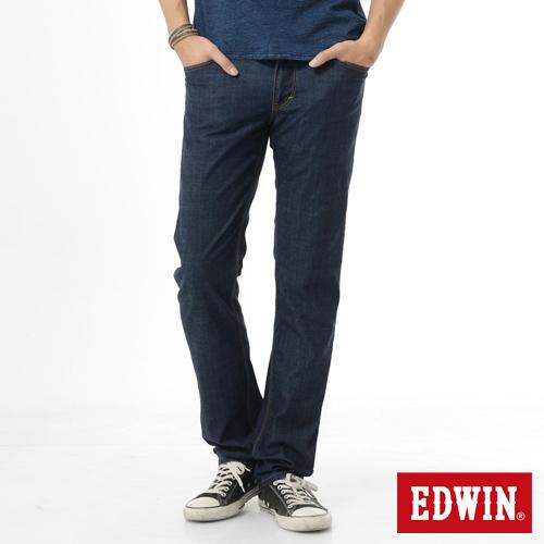 EDWIN EDGE LINE 輕涼爽COOL中直筒牛仔褲~男~原藍色