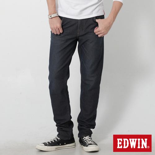 EDWIN 迦績褲 AB牛仔保溫褲~男~原藍磨