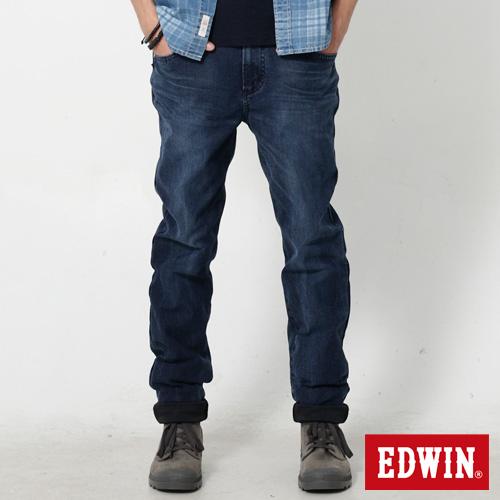 EDWIN 迦績褲 重水洗磨毛AB牛仔褲~男~酵洗藍