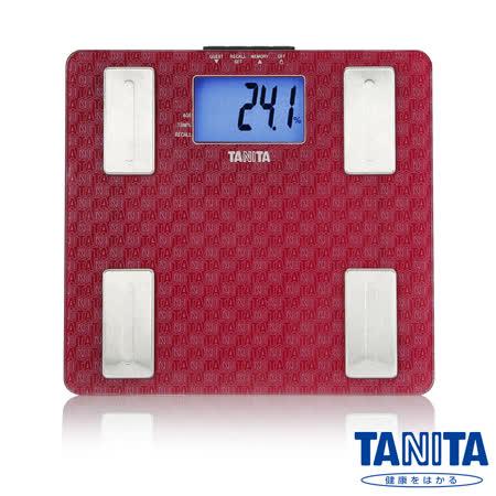 日本TANITA 強化玻璃藍光LCD體脂計UM-041 玫瑰紅